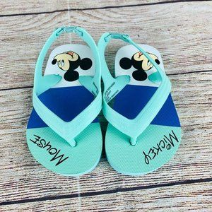 Disney Teal Mickey Mouse Thong Sandals